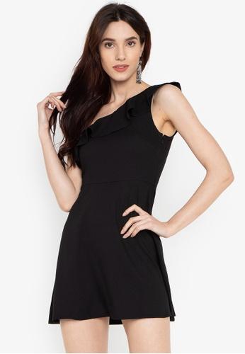 Susto The Label black Sandra One Shoulder Dress C4520AAC660272GS_1