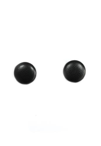 HEY SWEETY black Sweety Button Earrings HE303AC0JXKUPH_1