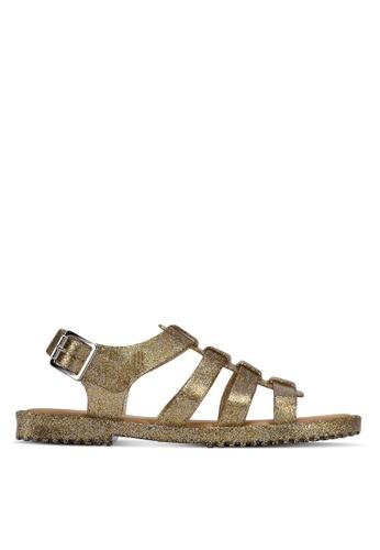 Melissa gold Melissa Flox Unissex Ad Sandals ME121SH0STK5MY_1