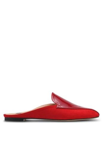 ZALORA red Faux Patent Leather Slip On Mules DE5B5SH0AE12A9GS_1