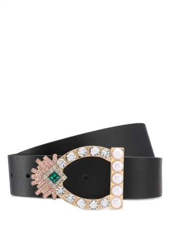 TOPSHOP black Trophy Buckle Black Belt 195EAAC2FA71AAGS_1