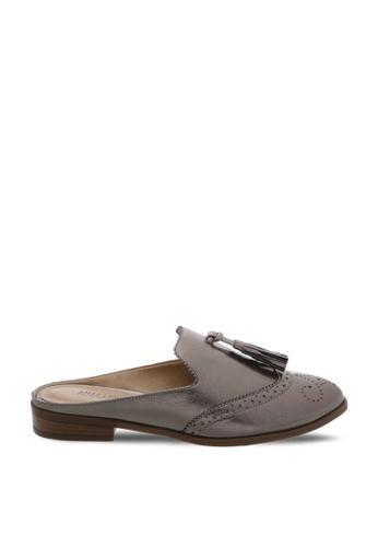 Anacapri 銀色 金屬感流蘇穆勒鞋 8D050SH4E06685GS_1