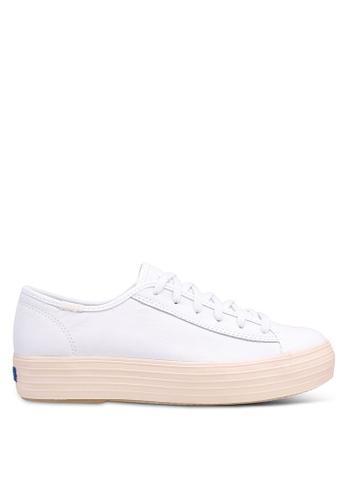 93e5d44229088 Buy Keds Triple Kick Leather Glossy Sneakers Online on ZALORA Singapore