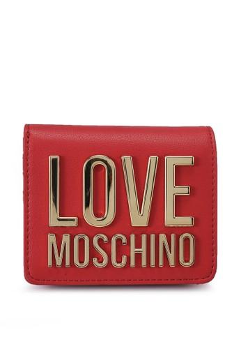 Love Moschino red Love Logo Bi-Fold Purse BBDA0ACDB83751GS_1