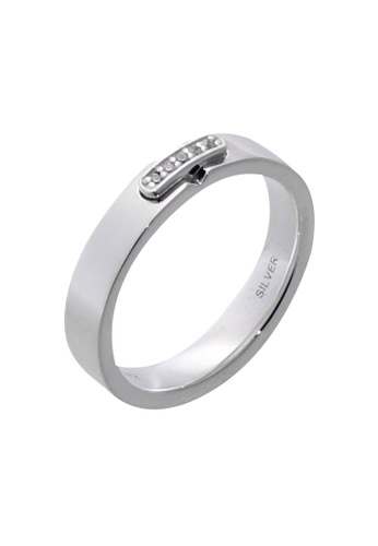 The LoveMark silver Buckle Ring with Artificial Diamonds for Women lr0011f TH516AC97VHMPH_1