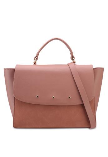 ZALORA pink Medium Size Top Handle Bag 5CEF8AC04C1EC6GS_1