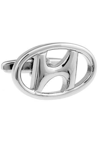 The Little Link Cufflinks silver Hyundai Logo (silver) cufflinks TH089AC0G4YJSG_1