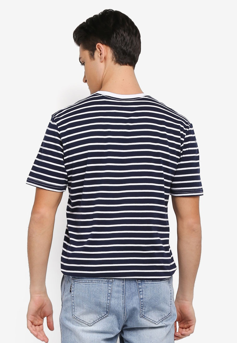 White Stripe Factorie Tee OG Navy wfOCqx