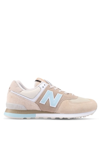 New Balance brown and beige 574 Retro Surf Classics Lifestyle Sneakers CA5A0SH5C9BC95GS_1