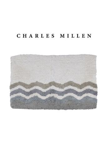Charles Millen grey 2 Pcs Charles Millen Tyde Tufted Bath Mat with Anti Slip coating 50 x 70cm/ 630g 82511HLF6BB896GS_1