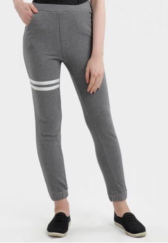 MKY Clothing Top Stripe Joger Pants In Grey