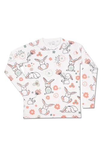 Pop Kidswear white Pop Kidswear Spring Bunny Adult tee ( Long Sleeves ) 3A833AA4DFA9DDGS_1