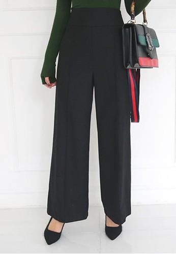 高腰闊腿羊毛西褲, 服飾esprit 品牌, 直腳褲