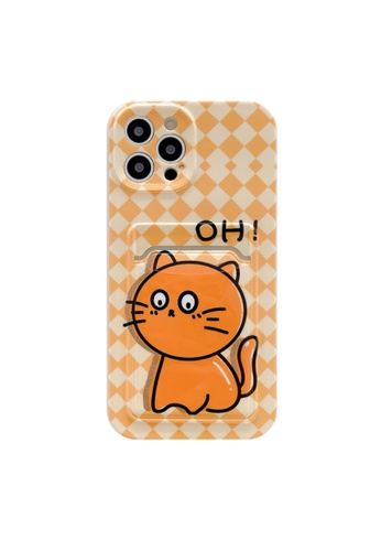 Kings Collection yellow Yellow Plaid Kitten iPhone 12 Case (KCMCL2396) F835AAC57B8E51GS_1