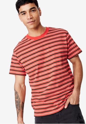 Cotton On 多色 短袖條紋T恤 3CD6CAA731A6E0GS_1