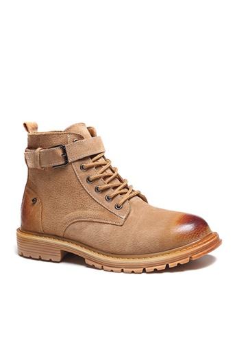 Twenty Eight Shoes brown VANSA Stylish Leather Mid Boots VSM-B3320 BC330SHBBDC0DBGS_1