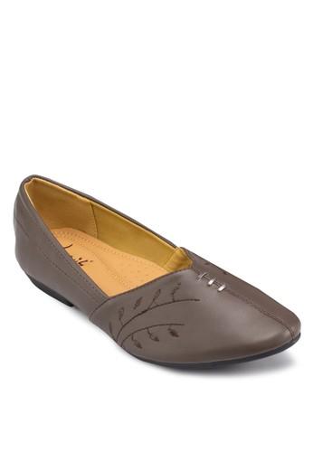 刺繡休閒平底鞋, 女鞋, zalora 評價鞋