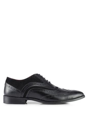 Acuto black Leather Dress Shoes AC283SH0SL5IMY_1