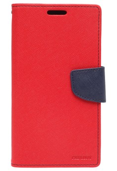 Goospery Fancy Diary Case for Samsung Galaxy Note 2 (Red/Navy)