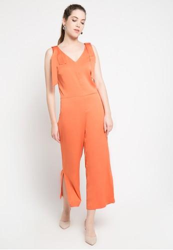 Etoile D'Elfas orange Estelle - Vneck Sleeveless Jumpsuits 01319AA9DE4AA4GS_1
