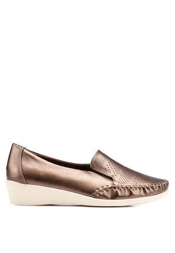 Bata 褐色 雕紋樂福鞋 B6E9ESHE3264AFGS_1