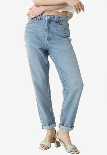 PIMKIE blue High Waist Mom Jeans 03832AAD4AFD61GS_1