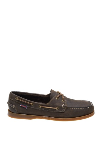 Sebago brown Mens Docksides Boat Shoes 4F7D3SH9F99D35GS_1