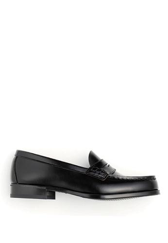 HARUTA 黑色 經典樂福皮鞋 17593SH69F67E8GS_1