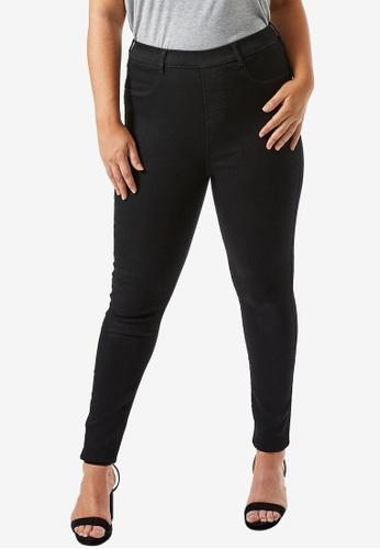 Dorothy Perkins black Plus Size Black Premium Eden Jeggings 70682AA9FE4C62GS_1