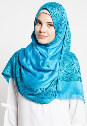 SHALIMAR blue Shalimar Pashmina Flower SH713AA40ASPID_1