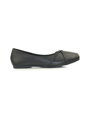 SHINE black Square Toe Ballerinas SH554SH0FVDWSG_1