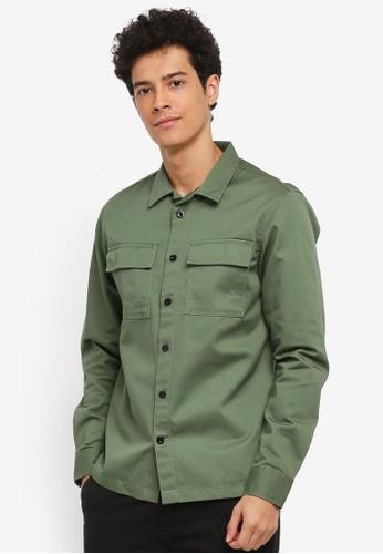 Jack & Jones green Walter Shirt Worker C6BDDAAFAEE474GS_1