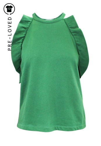 Msgm green Pre-Loved msgm Green Top with Frills 61396AABBC1F41GS_1