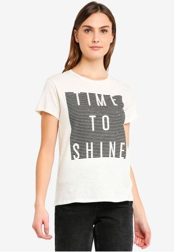 Billabong white Shine Bright Short Sleeve T-Shirt 00FE1AA3D13652GS_1