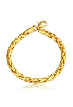 Treasure by B&D B085 Plated Twist Rope Chain Bracelet
