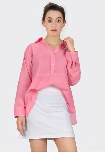 SJO & SIMPAPLY pink SJO Elma Pink Blouse F7CF8AA64EC8F2GS_1