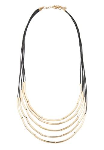 金屬條層次繩項鍊,esprit outlet 台中 飾品配件, 項鍊