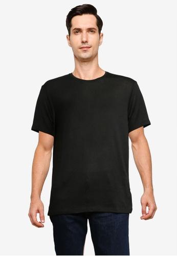 Burton Menswear London black Black Knitted Tee B6502AA849F0B6GS_1
