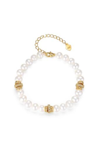 A.Excellence white Premium White Pearl Bracelet 792C5AC85B67ABGS_1