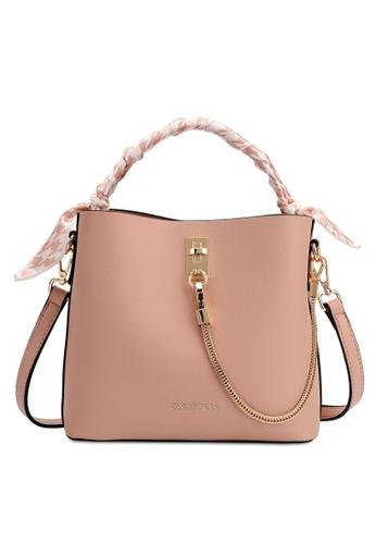 Swiss Polo pink Chain Detail Handbag 4F85EAC3DAC61BGS_1