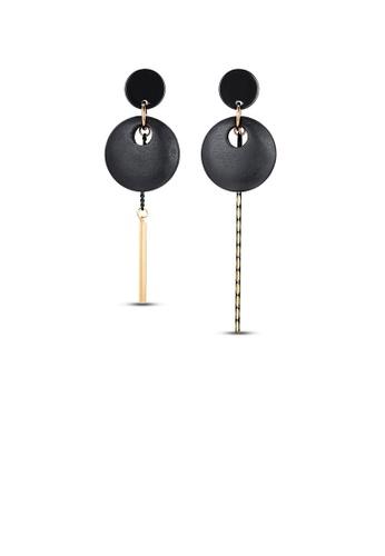Glamorousky silver Fashion Hollow Geometric Asymmetric Earrings CB2EFACD77415DGS_1
