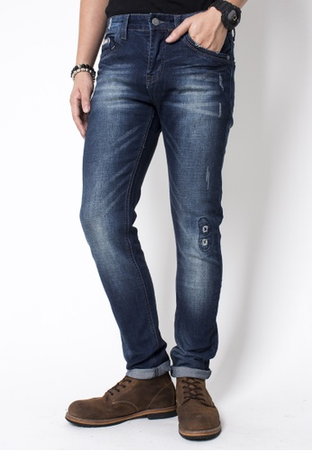 2nd Edition blue Fade Washed Repaired Jeans 2N610AA58VZTSG_1