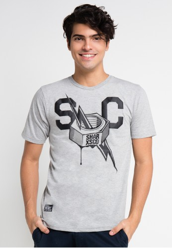 SHARKS grey Short Sleeve T-Shirt SH473AA0UX38ID_1