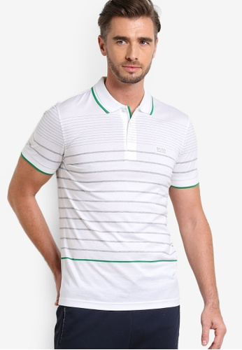 Boss Green white Paule 2 Polo Shirt BO516AA68MDVMY_1