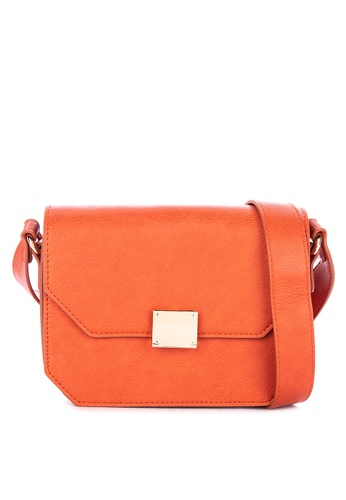 Springfield orange Mini Color Bag Solid Shade Shoulder Back With Gold Hardware Detail 37134AC21E3332GS_1