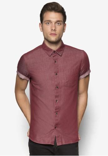 反折短袖襯衫,esprit outlet 桃園 服飾, 襯衫