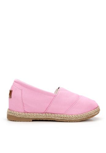 KissXXX 粉紅色 基本素色系列美腿效果5CM內增高帆布休閒鞋 KI603SH09MUMTW_1
