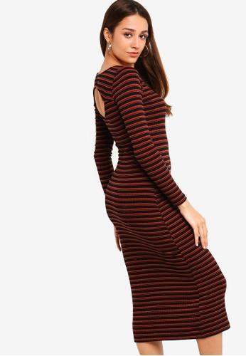 a41b8f29283 Shop ZALORA Cut Out Midi Knit Dress Online on ZALORA Philippines
