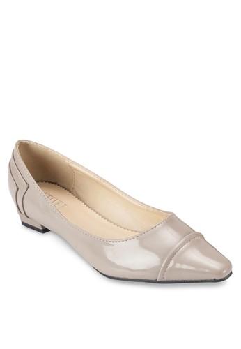 漆皮低跟方頭平底鞋、 女鞋、 鞋Velvet漆皮低跟方頭平底鞋最新折價