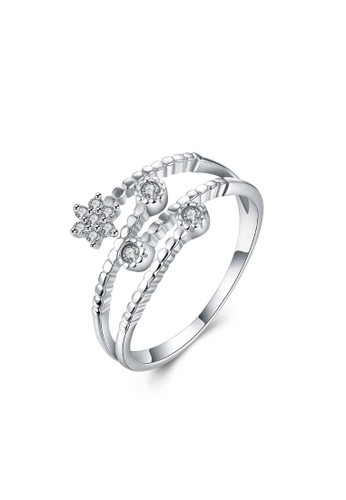 Tiaria white Tiaria Gold Plated Ring Casual Party SVR004--K10 16FD5AC6BA49CAGS_1
